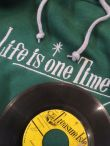 FITNESS LIFE IS ONE TIME HOODIE GREEN/ライフイズワンタイムパーカーグリーン